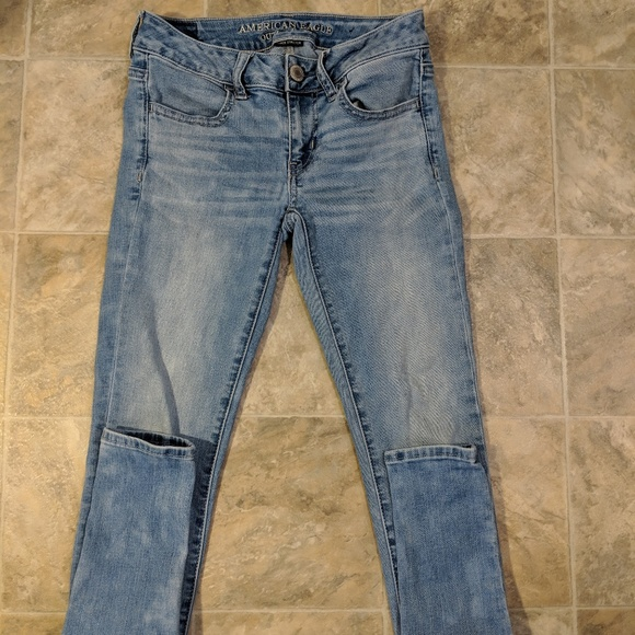 American Eagle Jeans Super Low Rise Jegging Size 2